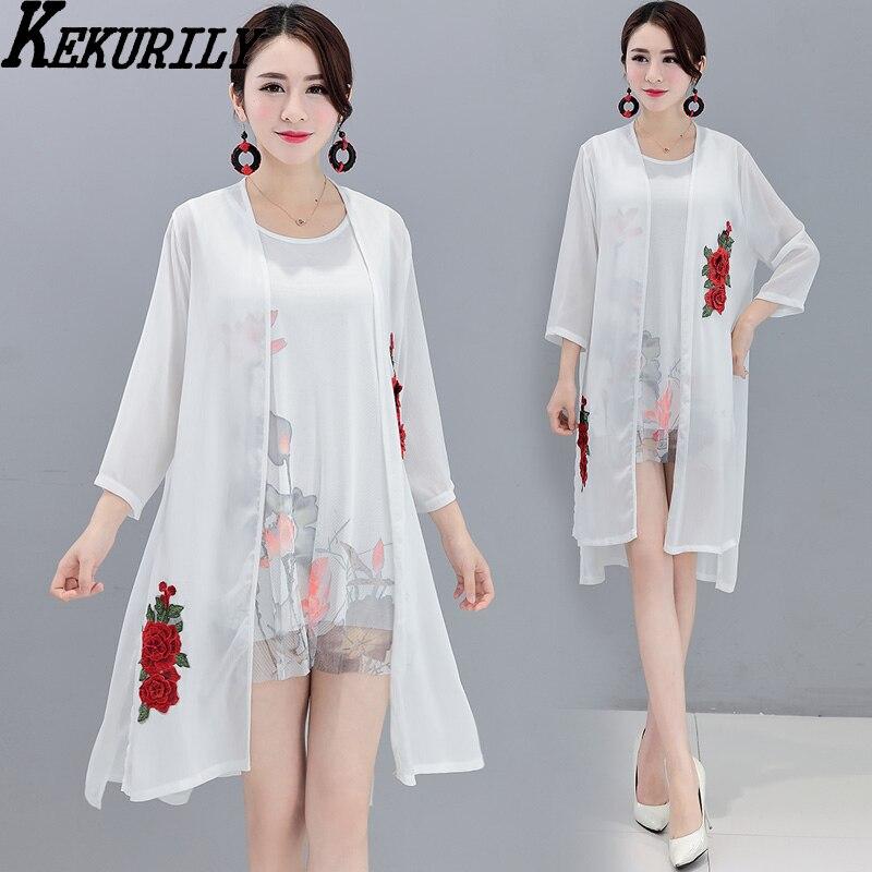Women summer dress suits party dresses chiffon kimono cardigan boho floral tshirt vintage elegant two piece dress beach sundress