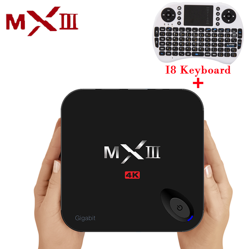 MXIII G Android 6.0 Tv Box Amlogic S912 G/16G Android Tv Box 2.4G/5.8G Dual WiFi MX3 Media Player H.265 4K MXIII-G Set Top Box