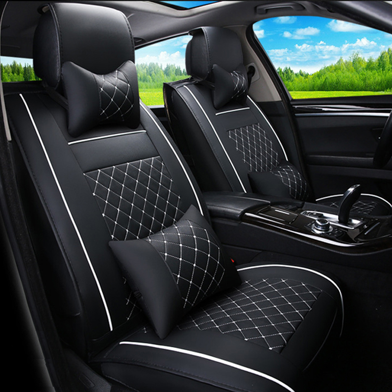 Leather car seat cover for Volkswagen VW Passat B5 B6 B7 Pole 4 5 6 7 Golf Jetta Tiguan Touareg Car Accessories Car Styling silk breathable embroidery logo customize car seat cover for vw volkswagen polo golf fox beetle sagitar lavida tiguan jetta cc
