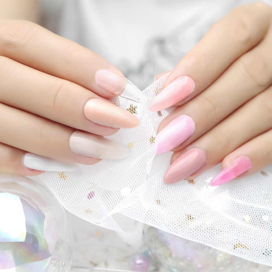 Monasi UV Gel Builder Nail Gel Polish 8 Kleuren Losweken Clear Camouflage Gel Nail Extensions Transparant Franse Manicure 2019