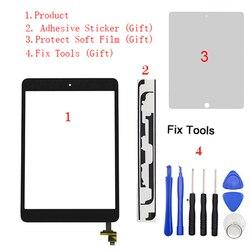 1Pcs Touch Screen Digitizer+IC Chip Connector+Button For iPad Mini1 Mini 1 Mini2 Mini 2 7.9