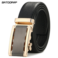 BATOORAP Strap Male Genuine Leather Jeans Belts For Men Luxury Automatic Buckle Cinturones Hombre Formal