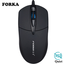 New USB Wired Computer Mouse Silent Click LED Optical Gamer Laptop PC Notebook Mice for Home or Office Use