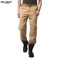 2016 New Arrival Big Size 100 Cotton Men Pants Casual Men Gym Clothing Military Army Green