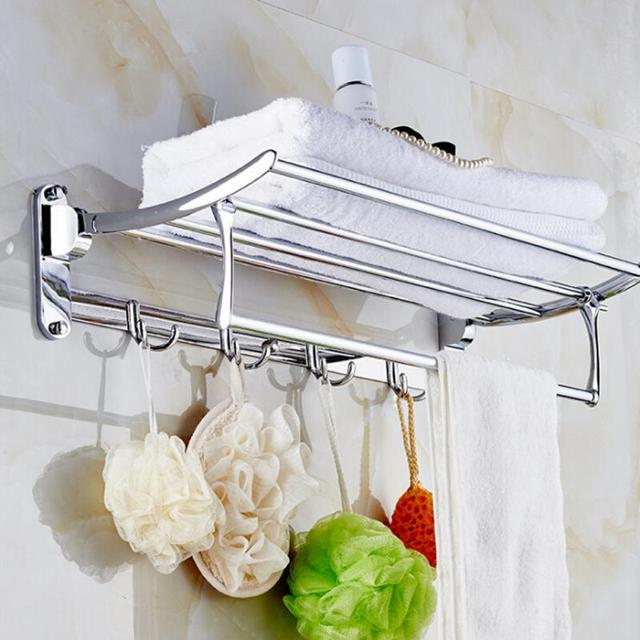 Edelstahl Badezimmer Wandregal Handtuchhalter Gebürstet Handtuch Regal  Halter Wandhalterung Bad Lagerung Silber