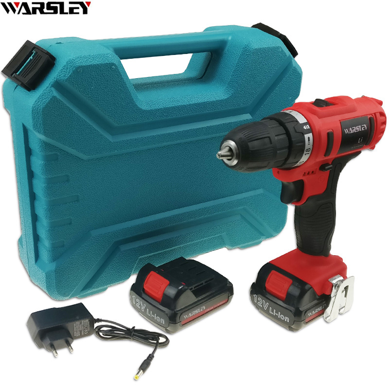 12V power tools Battery Drill Electric electric Drill Screwdriver Electric Tools Mini electric drilling EU PLUG Cordless Drill dongcheng 220v 1010w electric impact drill darbeli matkap power drill stirring drilling 360 degree rotation power tools