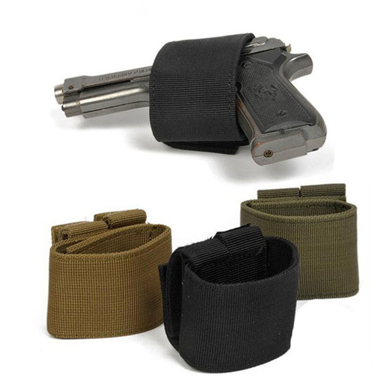 1pc Universal Tactical <font><b>MOLLE</b></font> Airsoft Gun <font><b>Holster</b></font> Durable Hunting Pistol Bag Hook & Loop for Glock 17 18 19 <font><b>1911</b></font> e.t.c. image