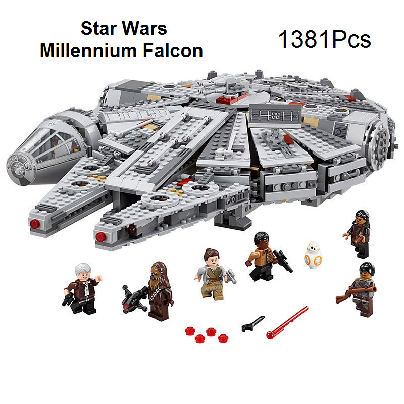 2016 Lepin Star Wars Millennium Falcon Figure Toys Building Blocks Compatible With Legoelied Starwars Set Bricks For Kids Gift lepin 02012 city deepwater exploration vessel 60095 building blocks policeman toys children compatible with lego gift kid sets
