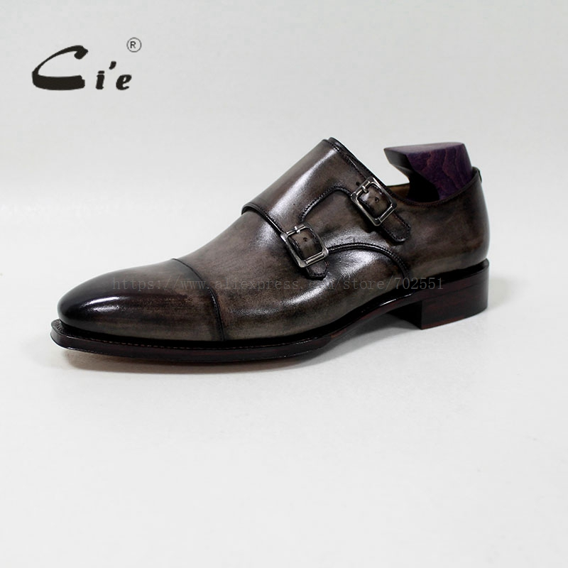 cie Square Captoe Double Monk Riemen Patina Oliver Grey Handmade - Herrenschuhe - Foto 2