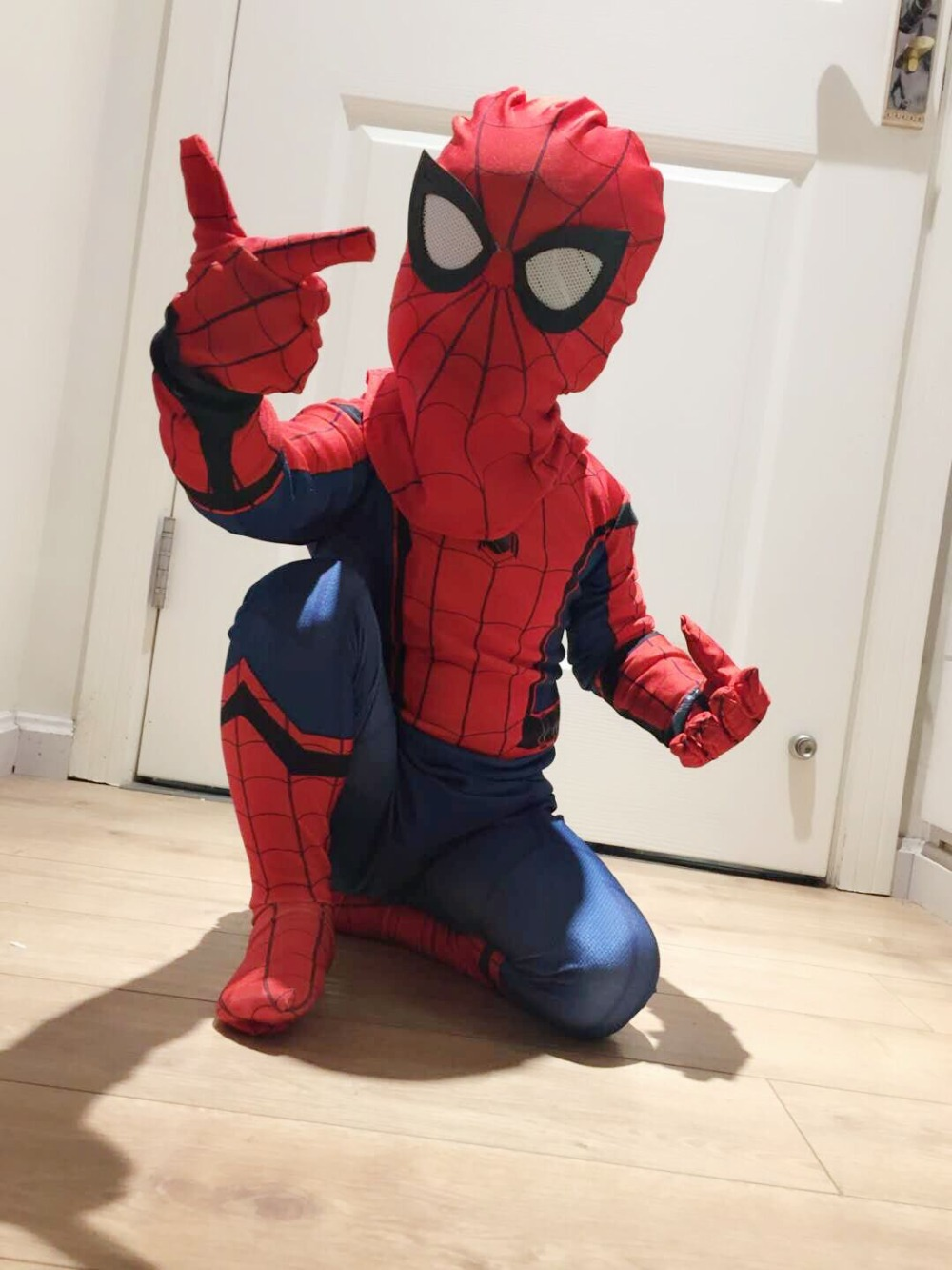 Kid Spiderman Civil War Costumes Spiderman Cosplay Spiderman mask Costume Halloween costume kid costumes for party