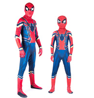 Red Blue Spider Man Zentai Costume Spider Man Suit Halloween Party Costumes Adults Children Kids Spider Man Cosplay Clothing