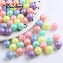 50PC mixed color Imitation Pearl ABS dull polish Matte Round Spacer Bead for Necklace Bracelet Bridal Earring DIY Jewelry Making