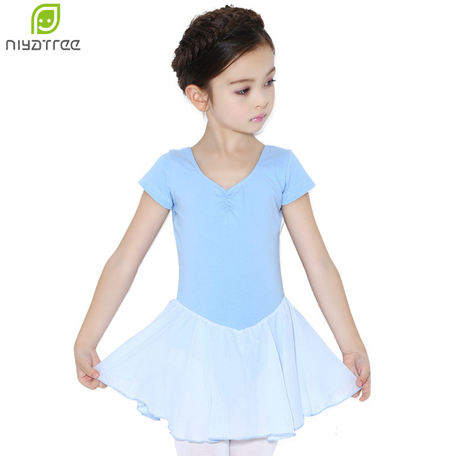 8bb78d8080a0 Niyatree Girls Leotards Gymnastics Kids Cute New Cotton Short Sleeve ...