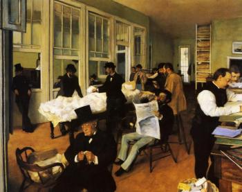 High quality Oil painting Canvas Reproductions A Cotton Office in New Orleans (1873) By Edgar Degas hand painted