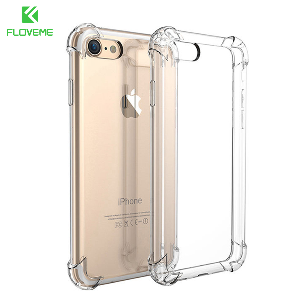 For iPhone 7 Plus Case Luxury Brand Shockproof Armor Cases For iPhone 7 7 Plus Gasbag Crystal Clear Phone Accessories Cover Bag