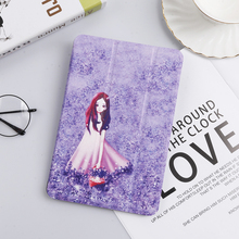 цена на Funda For iPad Pro 9.7 A1673 A1674 A1675 Case Smart PU Leather Trifold Stand PC Hard Back Cover For New iPad Pro 10.5 A1852 Case