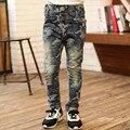 Crianças marca de varejo meninos Jeans 2016 nova moda crianças Camo calças Jeans cintura elástica crianças calças roupa das crianças para 4-13Y