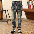 Retail Brand Kids Boys Jeans 2016 New Fashion Children Camo Jeans Pants Elastic Waist Kids Trousers Children Clothing For 4-13Y