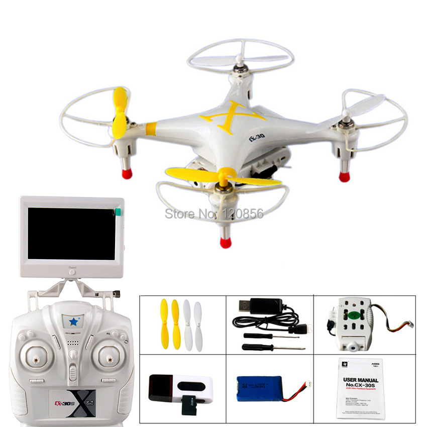 Cheerson Yellow CX-30S RC Drone with 720P HD WIFI camera 5.8G FPV RC quadcopter helicopter toy Gift for Child VS X5W X800 h37 cheerson cx 10wd cx10wd rc drone wifi hd camera video fpv remote control toys uadcopter helicopter aircraft plane children gift