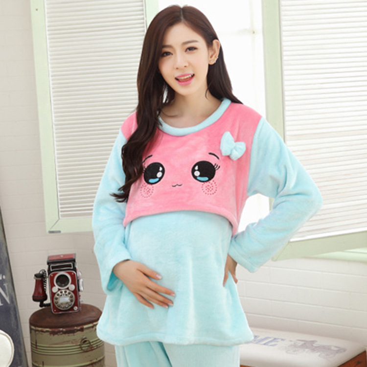 Pregnant Womens Pajamas Sets gestantes Maternity ...