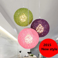 1pcs Ma ball chandelier color rattan ball Nest restaurant home decorated living room bedroom hallway chandelier free shipping