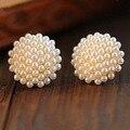 Free Shipping $10 (mix order) New Fashion Vintage Korean Full Pearl Peach Heart Earrings E467 Jewelry