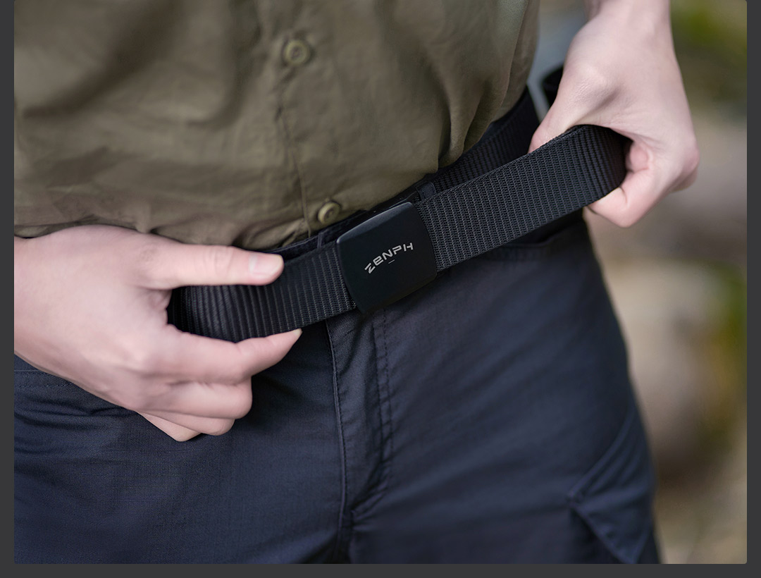 lowest price New Youpin metal free outdoor tactical belt YKK plastic buckle 96 special nylon webbing stepless length adjustment