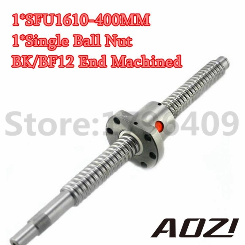 ФОТО SFU1610 Ball Screw Set : 400mm RM1610 Rolled Threaed 1pc+SFU1610 Ball Nut 1pc + Standard End Machined