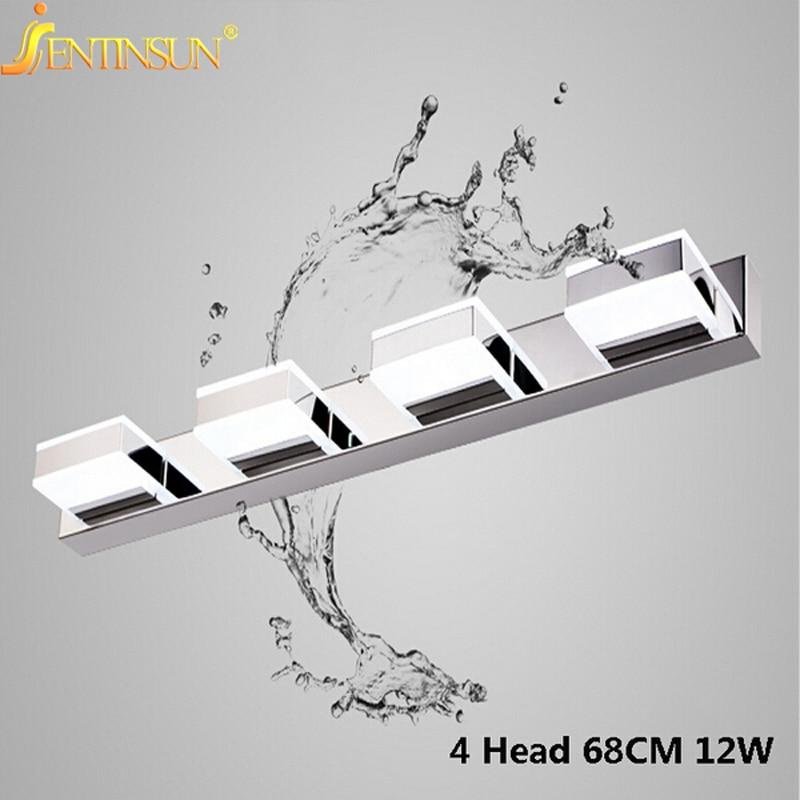 Здесь продается  High Quality 68CM 12W LED Indoor Lighting Wall Lamps Creative Waterproof Anti-fog Mirror Light 4 Head LED Makeup Light Fixtures  Свет и освещение