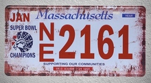 1 pc Massachusetts USA car License plaques Tin Plates Signs wall man cave Decoration Metal Art Vintage Poster