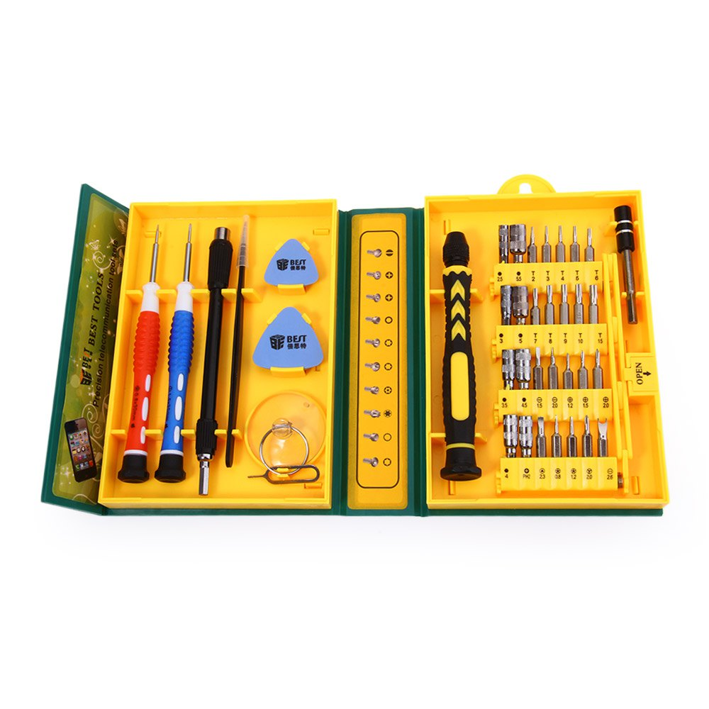 38 in 1 precision multipurpose screwdriver set repair opening tool kit fix with box case for. Black Bedroom Furniture Sets. Home Design Ideas