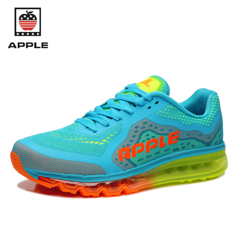 Apple 2017 brand new women's air cushion PVC mesh sport running shoes Female light breathable full air sole outdoor sneakers peak sport speed eagle v men basketball shoes cushion 3 revolve tech sneakers breathable damping wear athletic boots eur 40 50