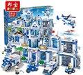 Модель строительство комплекты совместимы с lego City Police Station 3D блоки Образовательные модели здания игрушки хобби для детей 8353