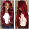 Two Tone Ombre Human Hair Weave Straight Malaysian Hair 4 Bundles Ombre Colored Red Hair Bundles Malaysian Virgin Hair Straight