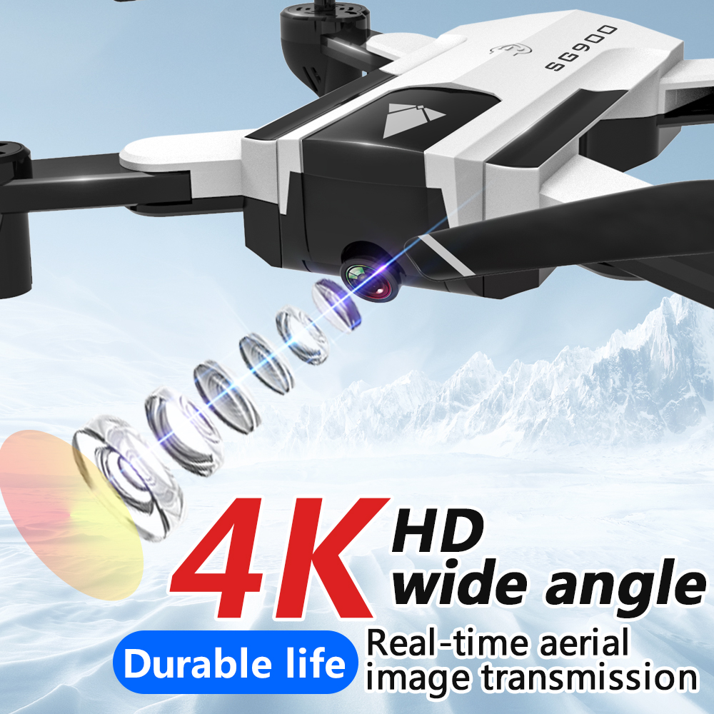 Image 3 - SG900 4K drone camera dual HD 2.4G remote control drone RC four axis aircraft app folding Portable video photo real time camera-in RC Airplanes from Toys & Hobbies