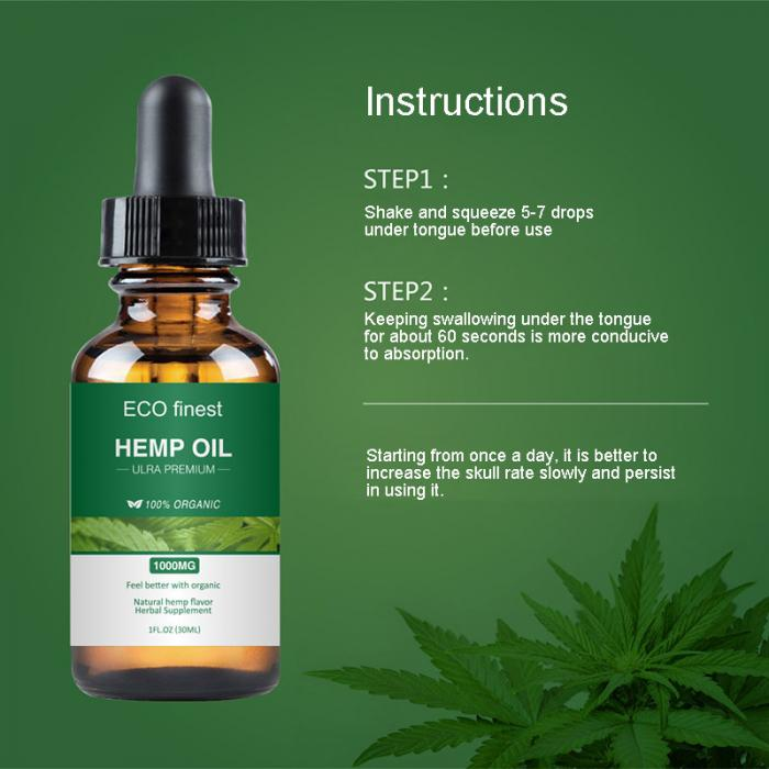 2019 Essential Oil Hemp Seed Relieve Stress Pain Care Sleeping Aid Relax  Soothing