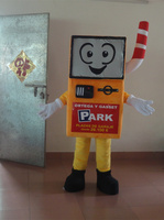 High quality 100% in kind shooting orange and yellow robot mascot adult robot mascot costume