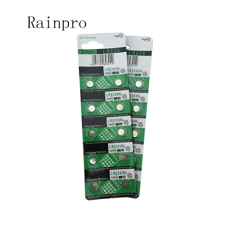 Rainpro 20PCS/LOT  AG4 SR626SW LR626 377 377A 377S 177  Button Battery For Electronic Watch.
