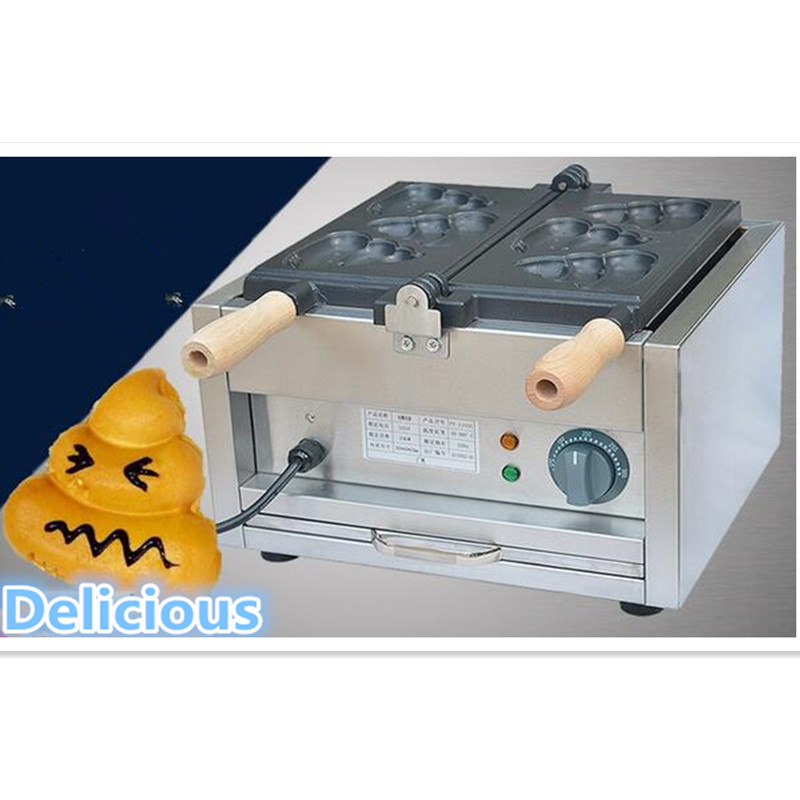 110V 220V Commercial Non-stick Shit Shaped Bread Baking Taiyaki Machine Waffle Maker Poo Shaped Taiyaki Maker EU/AU/BS/US Plug digital taiwan taiyaki machine taiyaki waffle making machine