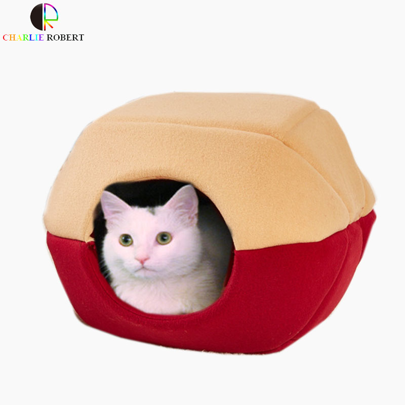 Super Comfortable Pet Kitten Puppy Cat Bed Soft Kennel House Small Dog Sofa  Bed Two Use