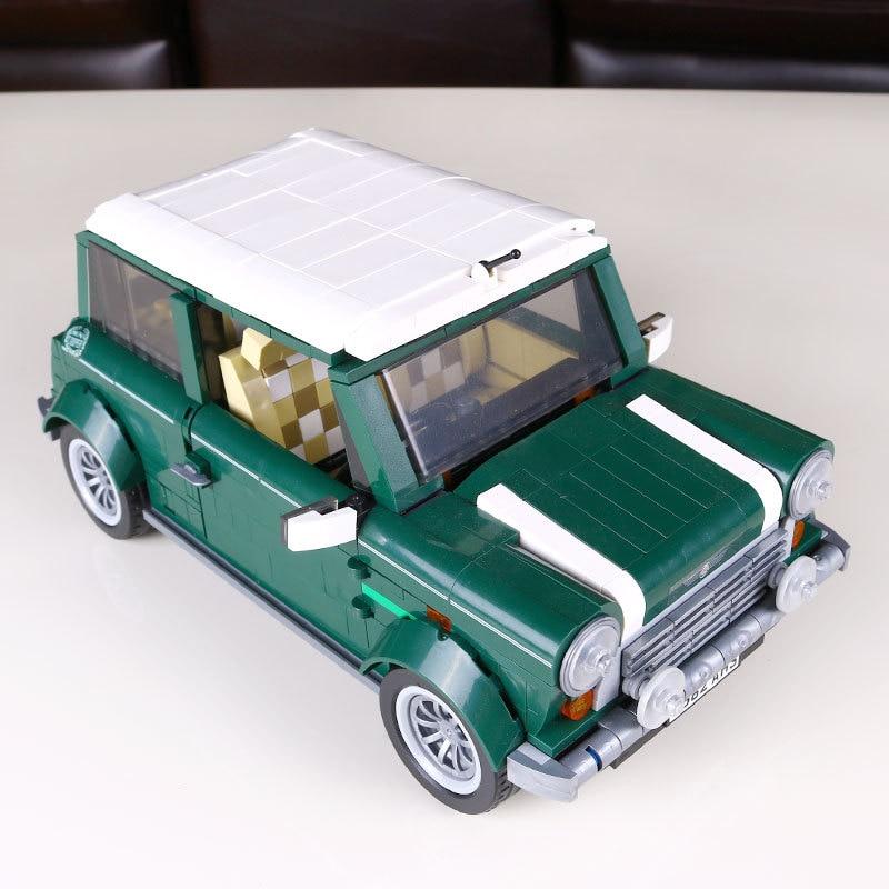 1077 pcs building blocks yile 002 mini cooper model building car for kids bricks for gift