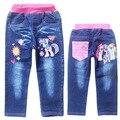 Pantalones Vaqueros de los niños Pantalones de Los Niños Pantalones de Las Muchachas Ropa pony Washed Denim pantalones de los niños niñas niños Pantalones Embroideried