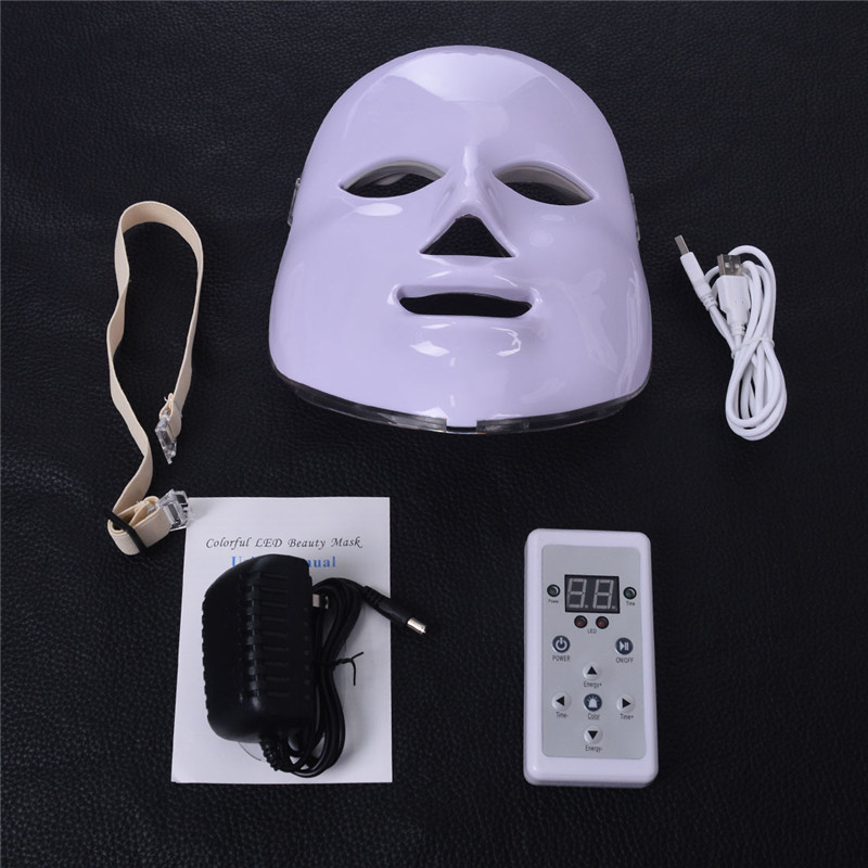 3 Colors Facial Mask Photon LED Skin Rejuvenation Light Therapy Wrinkle Acne Remover Skin Care Anti Aging Beauty Instrument 30 in Massage Relaxation from Beauty Health