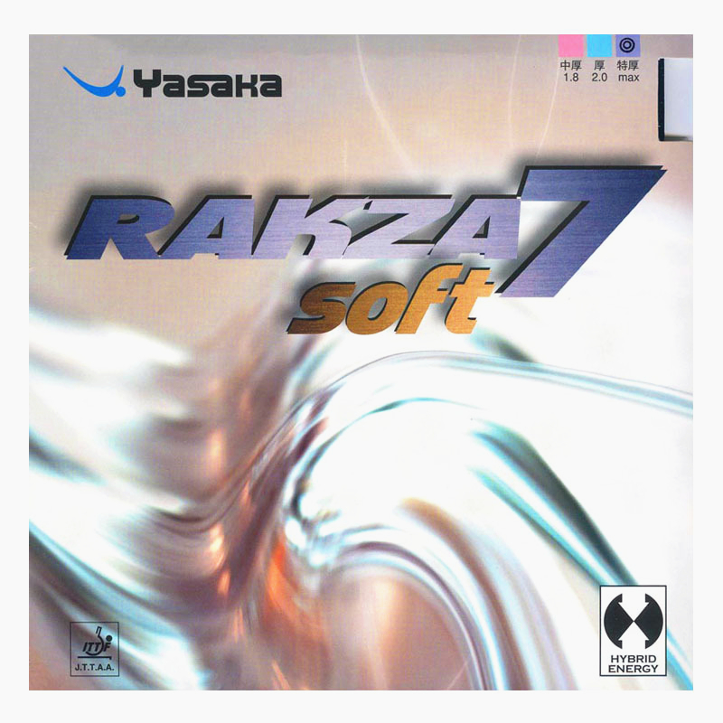 YASAKA Table Tennis Rubber RAKZA 7 Soft Control Loop pimples in with sponge ping pong tenis