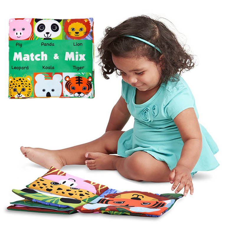 Face Matching Baby Toy Cloth Development Books Learning & Education Cloth Books 3~24 Month Children JA23a