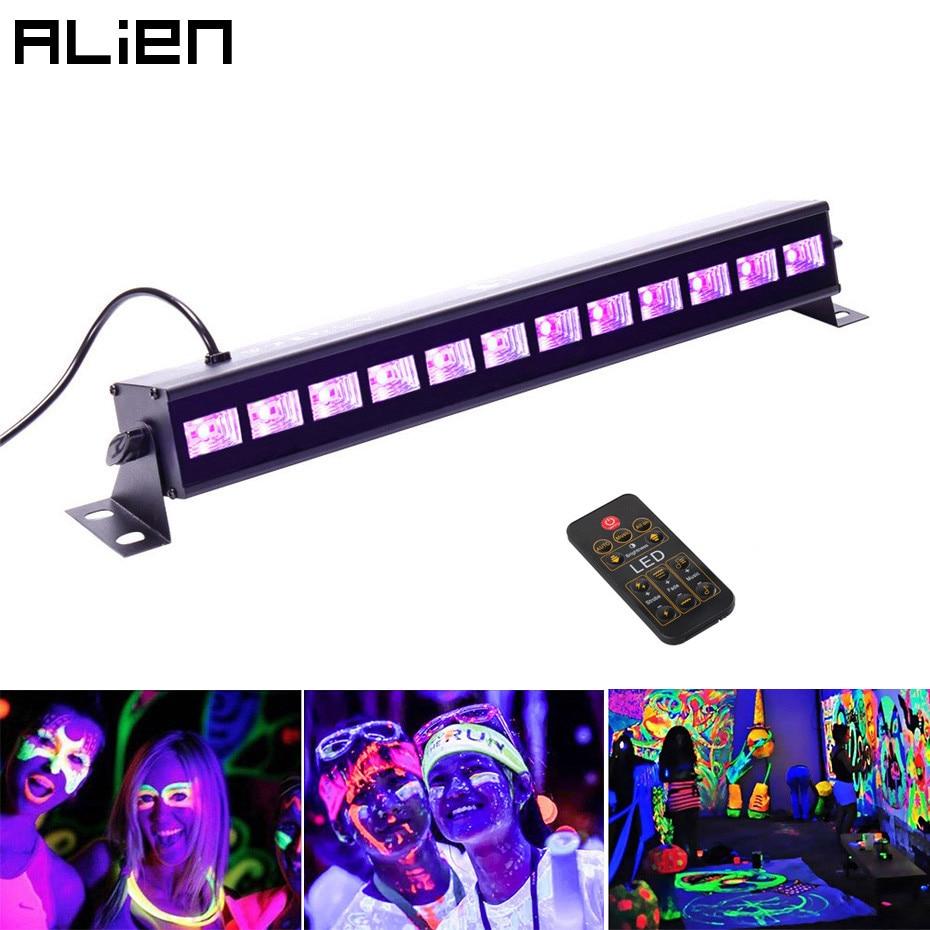 ALIEN 36W UV Stage Black Light Led Bar Remote Control DMX Stage Lighting Effect Disco DJ