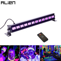 ALIEN 36W UV Stage Black Light Led Bar Remote Control DMX Stage Lighting Effect Disco DJ Xmas Party Indoor Holiday Club Lights