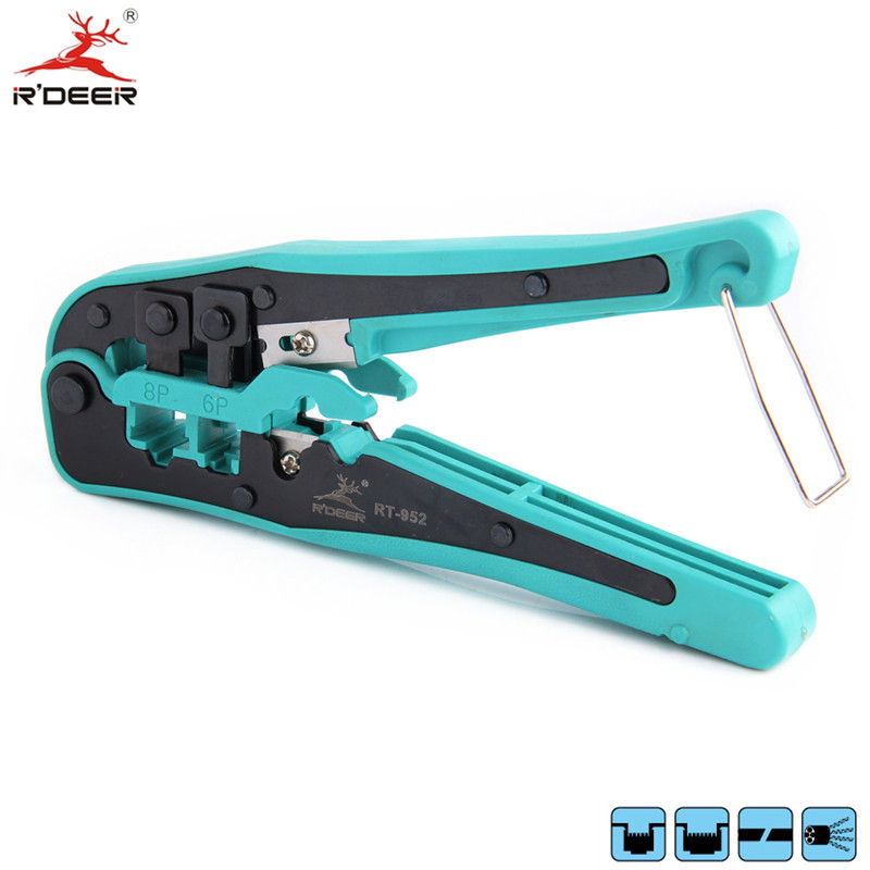RDEER 3-in-1 Crimping Tool 4P/6P/8P Network Crimping Pliers Wire Stripper Cable Cutter Multifunctional Electrician Tools