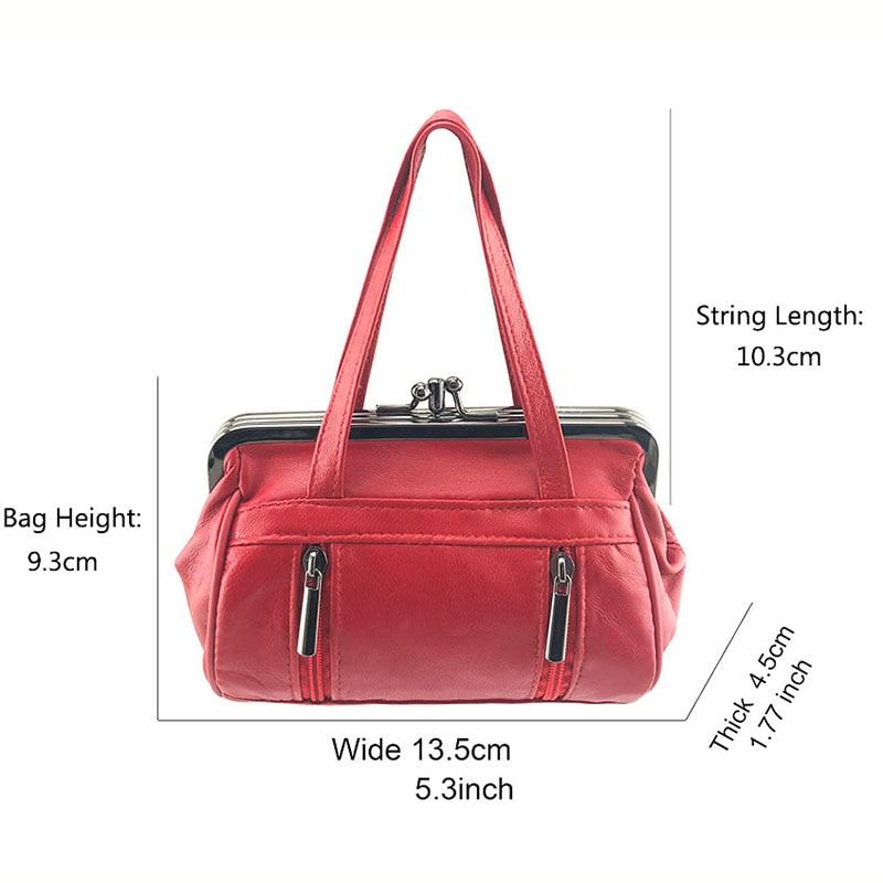 BELLO TUTTI Genuine Leather Coin Purse Women Girls Wallet Original Change Purse Card Holder Coin Wallet Metal Frame Pouch Bag