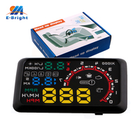 5 5Inch Vehicle Head Up Display HUD Safety Alarm System Offroad Driving Warning Car Reading Instrument